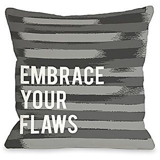 Bentin Home Decor Embrace Your Flaws Stripe Throw Pillow by OBC, 18