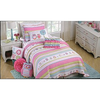 Cynthia Rowley Owl Sheet Set, Twin Size