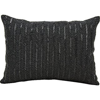 Michael Amini Z9010 black Decorative pillow by Nourison, 18