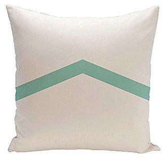 E By Design CPG-N50-Aqua-18 Geometric Throw Pillow, 18-Inch, Aqua
