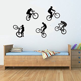 Bicycle Stunts Vinyl Wall Decals Quotes Sayings Words Art Decor Lettering Vinyl Wall Art Inspirational Uplifting