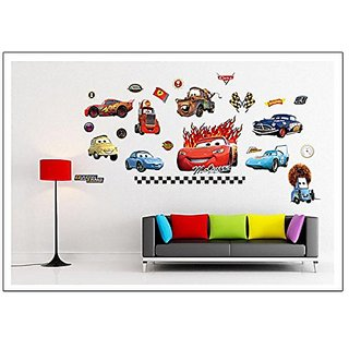 Cartoon Cars Wall Stickers DIY Mural Art Decal Self Adhesive Removable PVC Wall Paper Decor,19.7