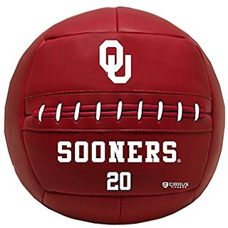 CIRRUS Fitness Medicine Ball, NCAA, University of Oklahoma, Sooners, 20 lb,