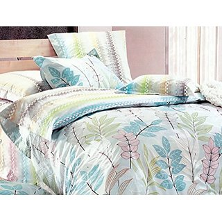 Essina Placido Collection, 100% Cotton 3pc Duvet Cover Set, Pillow Sham, Full/Queen, Natura