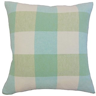 The Pillow Collection Amory Plaid Spring Pillow, 20