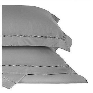 Italian Style Lattice Border Duvet Cover Set Bedding Set 3 Pc Set Grey Gray Queen Size