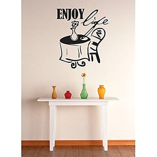 Design with Vinyl 1 Zzz 628 Decor Item Enjoy Life Quote Image Wall Decal Sticker, 12 x 18-Inch, Black