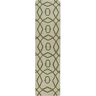 Surya FT532-268 Hand Woven Geometric Runners, 2-Feet 6-Inch by 8-Feet, Forest/Ivory
