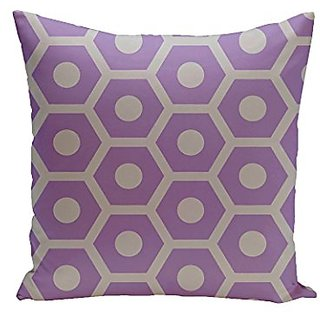 E By Design CPG-N37-Heather_Rain-16 Geometric Cotton Decorative Throw Pillow II, 16-Inch, Heather Rain