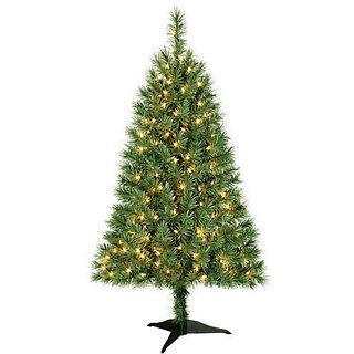 Winston Clear Pre-lit Lights Christmas Tree (3 Feet) with Base Stand and Pine Scented Ornament