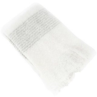 SARO LIFESTYLE 1-Piece Faux Mohair Throw, Ivory