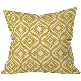 DENY Designs Heather Dutton Trevino Yellow Throw Pillow, 26 x 26