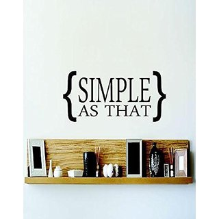 Design with Vinyl 2 C 2097 Decor Item Simple As That Image Quote Wall Decal Sticker, 14 x 28-Inch, Black