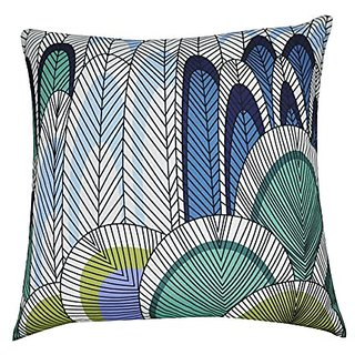 Loom & Mill P0202A-2121P Blue Feather Decorative Pillow, 21 x 21