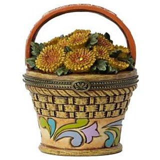 Enesco Jim Shore Heartwood Creek November Hinged Flower Box Covered, 3.5-Inch