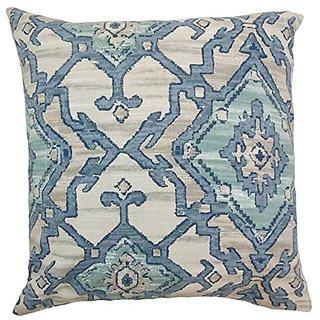 The Pillow Collection Halia Ikat Aegean Pillow, 20