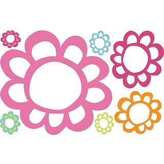 RoomMates RMK2474SLM Floral Dry Erase Peel and Stick Wall Decals, 1-Pack