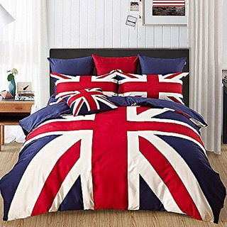 Kpblis®British Flag Cartoon Bedding Sets,Student Dormitory Duvet Cover Sets,Twin/ Full/ Queen