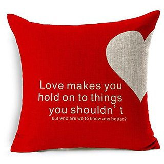 Dececos love Language Decorative Cotton Linen Blend Throw Pillow Cover Square Pillow Case Cushion Cover 18 x 18 Inches