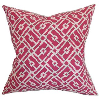 The Pillow Collection Majkin Geometric Pillow, Azalea
