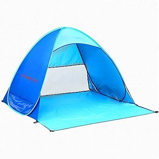 CHUKCHI Automatic Pop Up Outdoors Portable Quick Beach Tent Sun Shelter, Blue color,