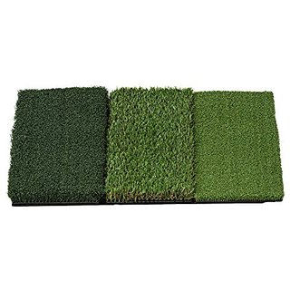 Rukket Mat Attack Tri-Turf Portable Golf Hitting Mat (25in x 16in)