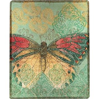 Boho Nature Butterfly Poly Throw 50