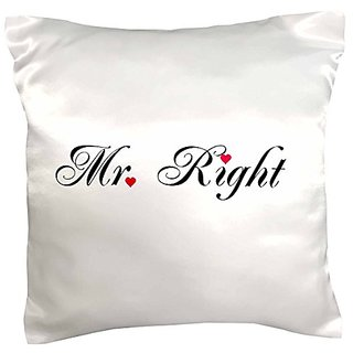 3dRose pc_112876_1 Mr Right-part of a Mr and Mrs gift set for romantic couples for anniversary wedding valentines day-Pi