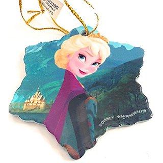 Disney Parks Elsa from Frozen Star Shape Flat Porcelain Ornament NEW