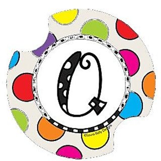 Polka Dotted Monogram Q Drink Coasters - Style DLYMQ