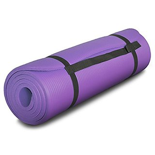 YogaFitters All-Purpose 1/2-Inch Extra Thick High Density Anti-Tear Exercise Yoga Mat with Carrying Strap - Super Thick,