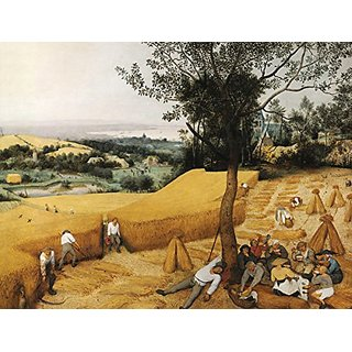 JP London PMUR2250 uStrip Peel and Stick Bruegel Wall Decal Sticker Mural, The Harvesters Painting, 4 x 3-Feet