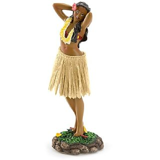 Leilani Dashboard Hula Doll Flower Placing Pose 7