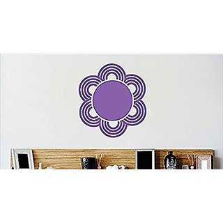Design with Vinyl Cryst 539 1218 Purple Flower Border Design Vinyl Wall Decal Art Home Decor Bedroom Living Room, 12 by