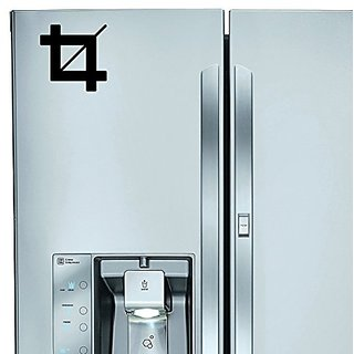 StickAny Kitchen Appliance Series Crop Symbol Sticker for Refrigerators, Dishwashers, and More! (Black)