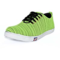BLUE POP Men's Light Green Lace Up Casual Shoes