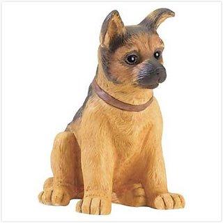 German Shepherd Puppy Figurine - Style 37448