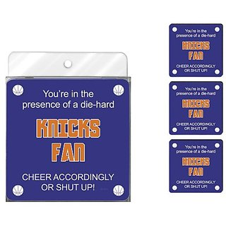 Tree-Free Greetings NC38159 Knicks Basketball Fan 4-Pack Artful Coaster Set