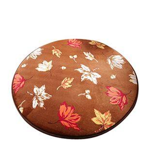 Dearhouse Shaggy Circle Round Maple Leaf Beach Towel Yoga Mat Bath Rug Skid Resist Chair Floor Mats Fuzzy Durable Carpet