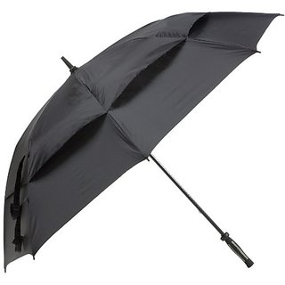 JEF World of Golf 38-Inch Umbrella (Black)