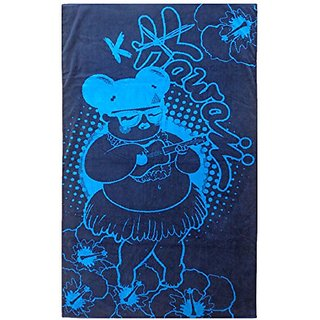 Maghso Beautiful Egyptian Cotton Luxury Oversized Beach Towels, 40 by 68-Inch, Hula, Blue