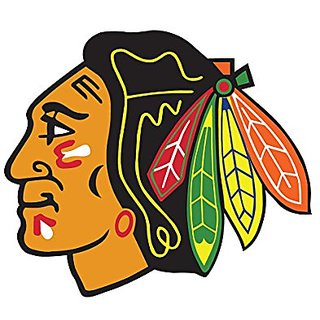 Chicago Blackhawks NHL logo wall decals stickers - 3 stickers (7