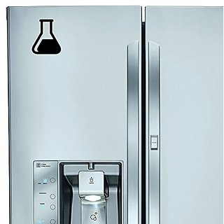 StickAny Kitchen Appliance Series Beaker Sticker for Refrigerators, Dishwashers, and More! (Black)