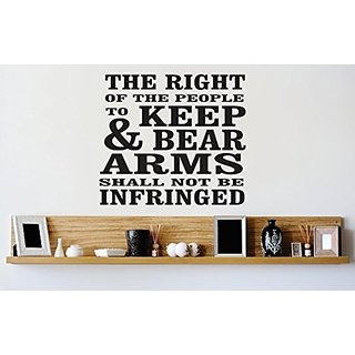 Design with Vinyl 1 Zzz 283 Decor Item The Right of The People to Keep and Bear Arms Shall Not be Infringed Gun Quote Wa