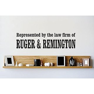 Design with Vinyl 1 Zzz 333 Decor Item Represented By The Law Firm of Ruger and Remington Quote Wall Decal Sticker, 6 x