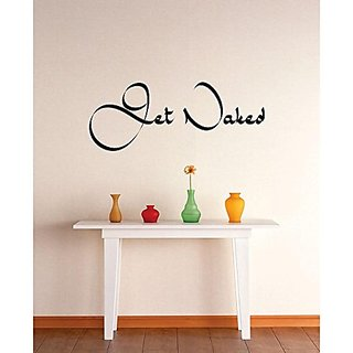 Design with Vinyl 2 Zzz 147 Decor Item Get Naked Quote Wall Decal Sticker, 14 x 28-Inch, Black
