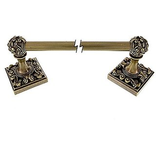 Vicenza Designs TB8001 Sforza Towel Bar, 24-Inch, Antique Brass