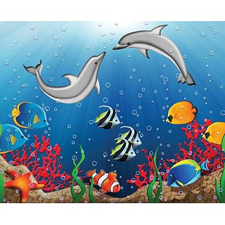 JP London MD3A084 8.5-Feet High by 10.5-Feet Wide Removable Full Wall Bubble Buddies Nursery Mural
