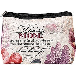 Dear Mom Gift from God Water Resistant Polyester Cosmetic Bag