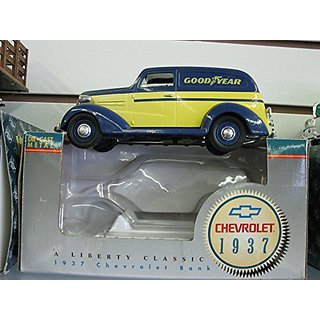 1937 Chevrolet Sedan Delivery, Goodyear Tires, Liberty Classic Diecast,bank.